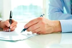 Подписание договора на получение микрозайма